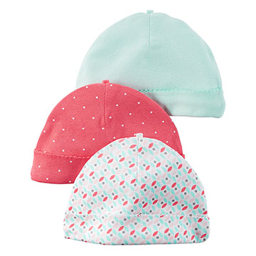 美國 Carter / Carter's 嬰幼兒保暖帽三組_CTBN03