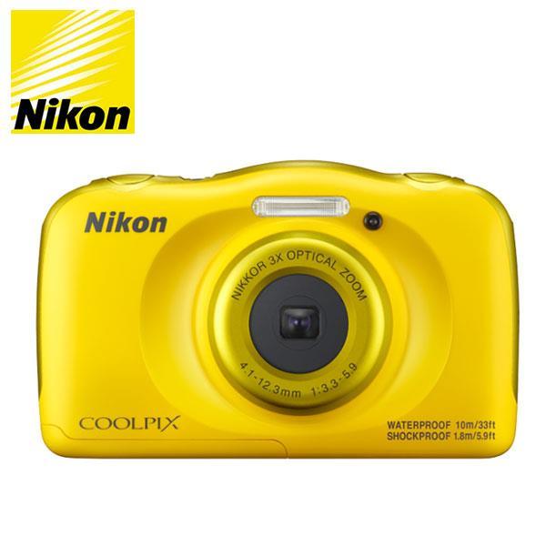 【尾牙精選】Nikon COOLPIX W100(黃)防水數位相機