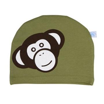 美國 RuffleButts 小男童甜美棉帽_小猴子綠色棉帽